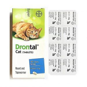 Tác dụng của Thuốc tẩy giun cho mèo Drontal dạng viên Giúp kiểm soát giun đường tiêu hóa gồm giun đũa và sán dây trên mèo.